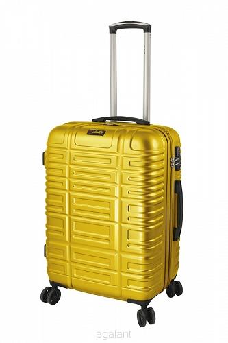 7746829bb6b8c Walizka podróżna - średnia, na kółkach, Dielle, żółta